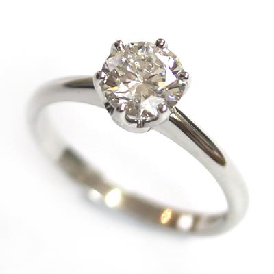 Platinum 6 Claw Tiffany Style Diamond Engagement Ring 6.jpg