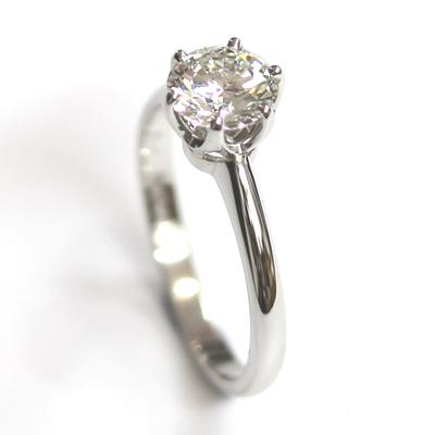 Platinum 6 Claw Tiffany Style Diamond Engagement Ring 7.jpg