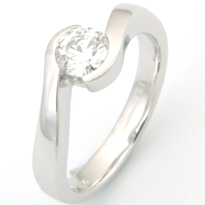 18ct White Gold Diamond Swirl Engagement Ring 1.jpg