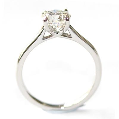 Platinum Solitaire 0.80ct Round Brilliant Cut Diamond Engagement Ring 1.jpg