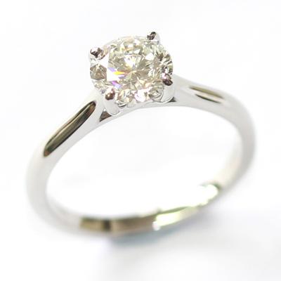 Platinum Solitaire 0.80ct Round Brilliant Cut Diamond Engagement Ring 3.jpg