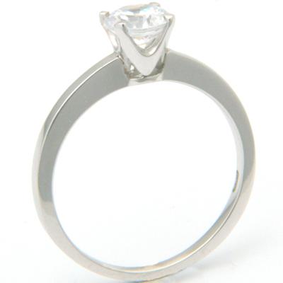 Platinum Tiffany Inspired Round Brilliant Cut Diamond Solitaire Engagement Ring 2.jpg