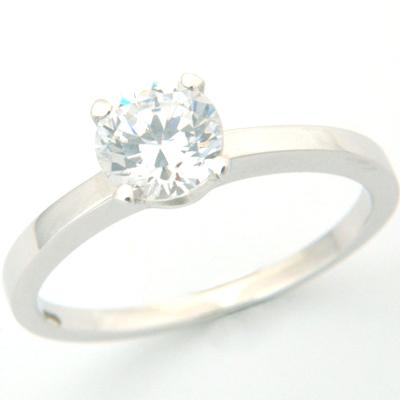 Platinum Tiffany Inspired Round Brilliant Cut Diamond Solitaire Engagement Ring 1.jpg