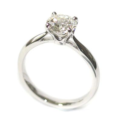 Platinum Round Brilliant Cut Solitaire Engagement Ring 3.jpg