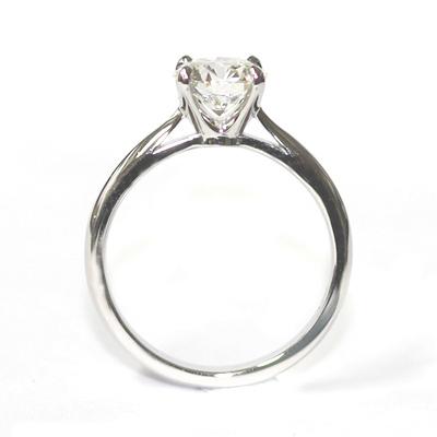 Platinum Round Brilliant Cut Solitaire Engagement Ring 2.jpg