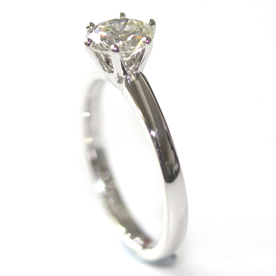 Platinum Six Claw Round Brilliant Cut Diamond Engagement Ring 1.jpg
