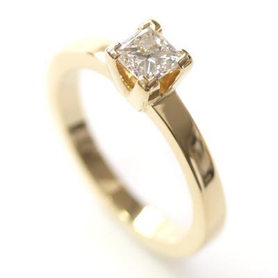 Yellow Gold Princess Cut Diamond Engagement Ring 1.jpg