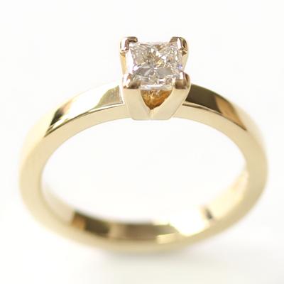 Yellow Gold Princess Cut Diamond Engagement Ring 2 - Copy.jpg