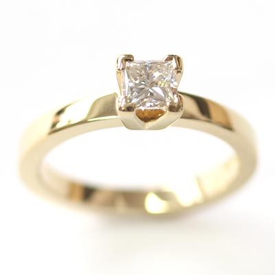 Yellow Gold Princess Cut Diamond Engagement Ring 3.jpg