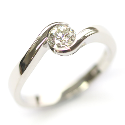 Palladium Round Brilliant Cut Diamond Swirl Engagement Ring 2.jpg