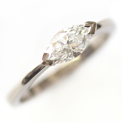 18ct White Gold Solitaire Marquise Cut Diamond Engagement Ring 5 - Copy - Copy - Copy.jpg