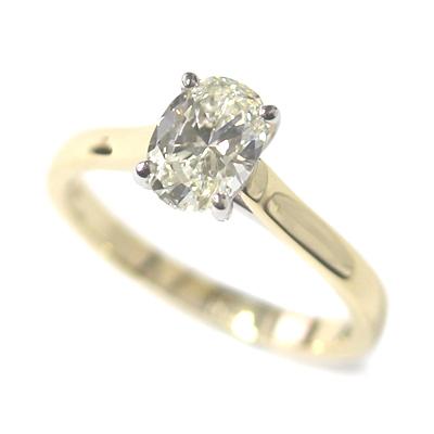 18ct Yellow Gold 1ct Oval Cut Diamond Engagement Ring 1.jpg