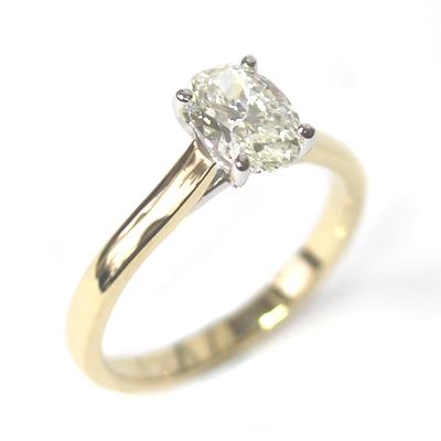 18ct Yellow Gold 1ct Oval Cut Diamond Engagement Ring 4.jpg