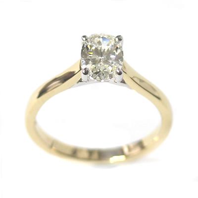 18ct Yellow Gold 1ct Oval Cut Diamond Engagement Ring 6.jpg