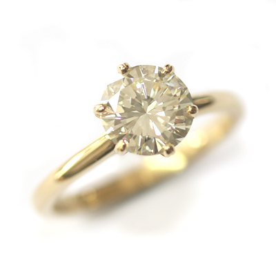 18ct Yellow Gold Diamond Engagement Ring with Six Claw Setting 3.jpg