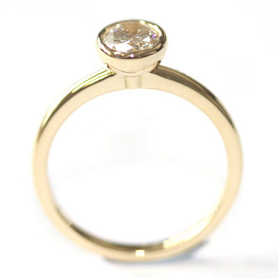Yellow Gold Rub Set Oval Cut Diamond Engagement Ring 3.jpg