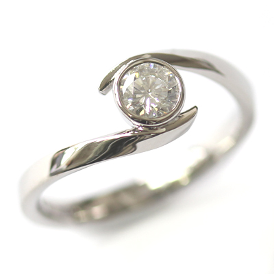 Palladium Twist Solitaire Diamond Engagement Ring 2.jpg