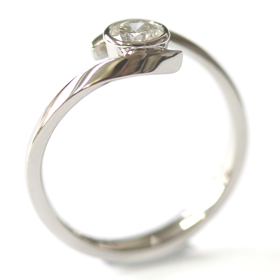 Palladium Twist Solitaire Diamond Engagement Ring 5.jpg