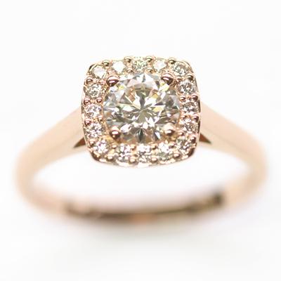 18ct Rose Gold Diamond Halo Cluster Engagement Ring 5.jpg