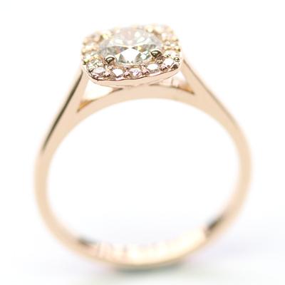 18ct Rose Gold Diamond Halo Cluster Engagement Ring 6.jpg