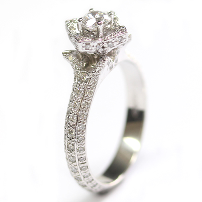 18ct White Gold Diamond Rose Engagement Ring 2.jpg