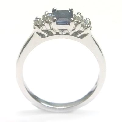 18ct White Gold Sapphire and Diamond Engagement Ring 2.jpg