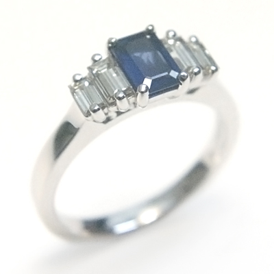18ct White Gold Sapphire and Diamond Engagement Ring 1.jpg