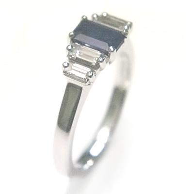 18ct White Gold Sapphire and Diamond Engagement Ring 4.jpg