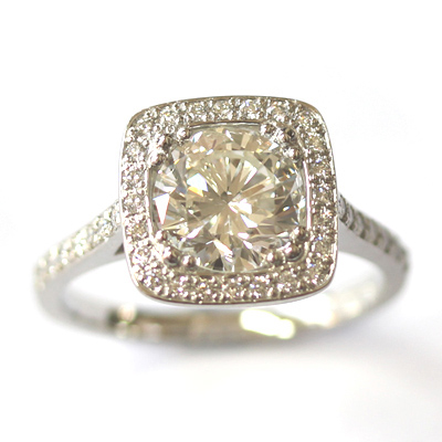 Platinum Tiffany Inspired Diamond Halo Engagement Ring 1.jpg