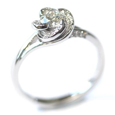 18ct White Gold Diamond Rose Engagement Ring 5.jpg