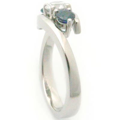 Palladium Trilogy Sapphire & Diamond Ellipse Engagement Ring 2.jpg