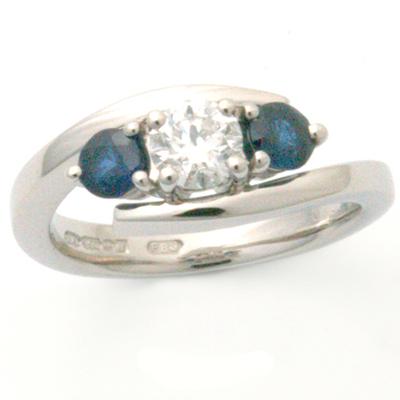 Palladium Trilogy Sapphire & Diamond Ellipse Engagement Ring 1.jpg