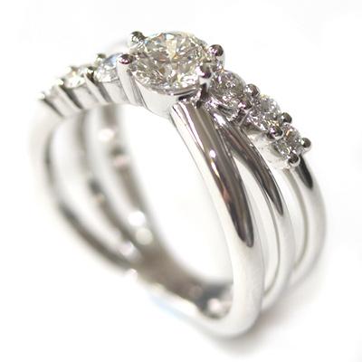 Platinum Three in One Engagement, Wedding and Eternity Ring 5.jpg