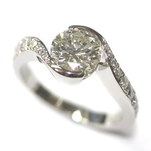 Platinum Twist Engagement Ring using the Customers Diamonds 1.jpg