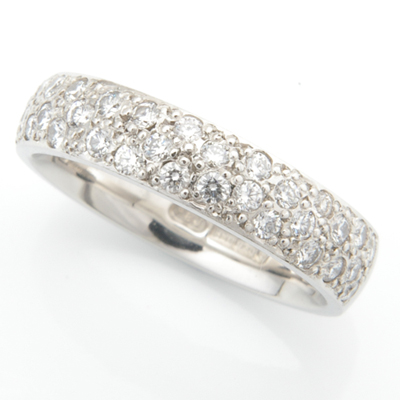 Platinum Half Pave Set Diamond Wedding Ring 2.jpg