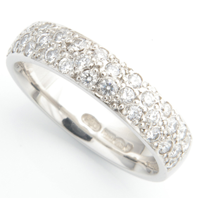 Platinum Half Pave Set Diamond Wedding Ring 1.jpg