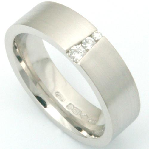 Platinum Diamond Set Satin Finish Wedding Ring.jpg