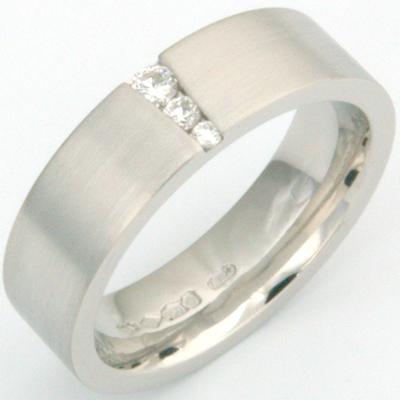 Platinum Diamond Set Satin Finish Wedding Ring 3.jpg