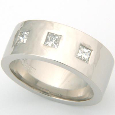 Palladium Hammered Effect Wedding Ring Set 2.jpg
