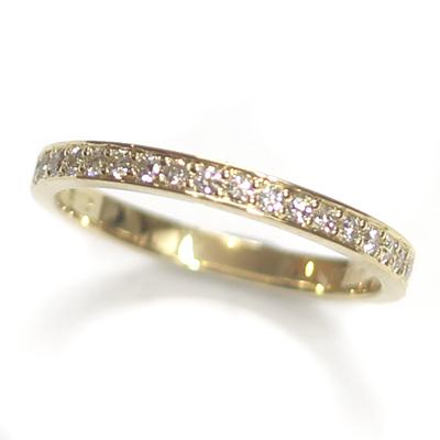 18ct Yellow Gold Diamond Set Wedding Band 1.jpg
