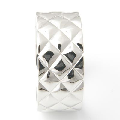 Textured Platinum Satin Finish Gents Ring 4.jpg