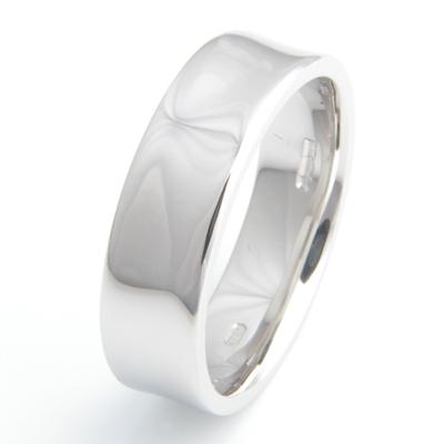 Platinum Gents Concave Wedding Ring 4.jpg