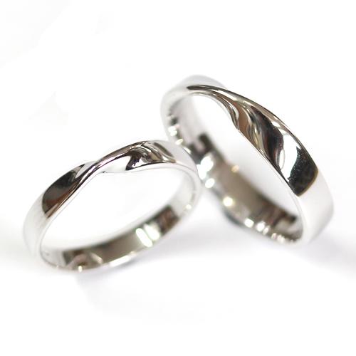 18ct White Gold Matching Twist Wedding Ring Pair.jpg