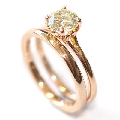 18ct Rose Gold Plain Fitted Wedding Ring 2.jpg