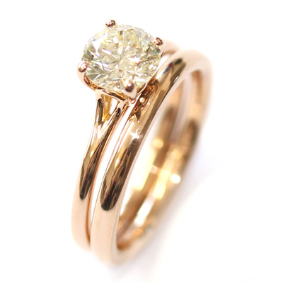 18ct Rose Gold Plain Fitted Wedding Ring 1.jpg