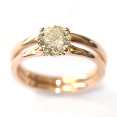18ct Rose Gold Plain Fitted Wedding Ring 3.jpg