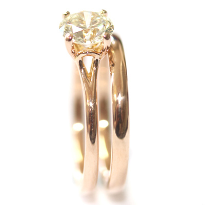 18ct Rose Gold Plain Fitted Wedding Ring 4.jpg