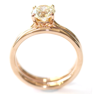 18ct Rose Gold Plain Fitted Wedding Ring 5.jpg
