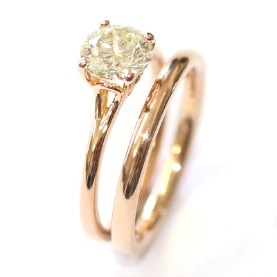 18ct Rose Gold Plain Fitted Wedding Ring 6.jpg
