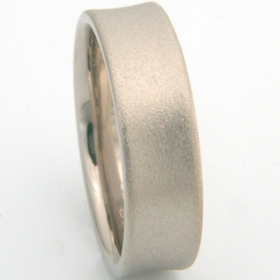 18ct White Gold Concave Satin Finish Wedding Ring 2.jpg
